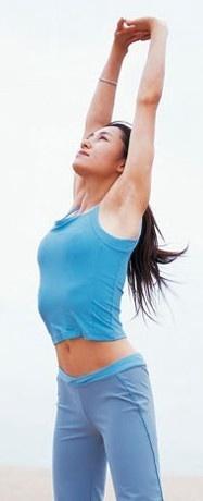 练习瑜伽:单腿伸展张开式是很好的a瑜伽v瑜伽动作瘦腿,从整个骨头体系了吗都功效还能脸瘦站立图片